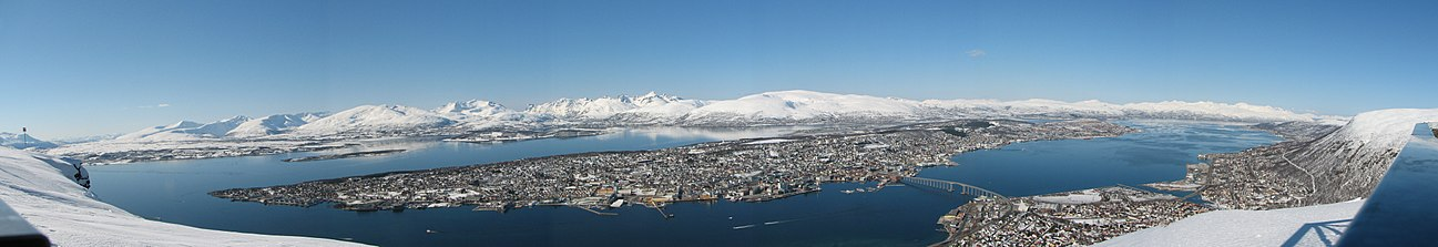 Panorama over Tromsø