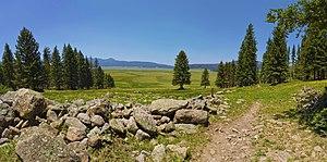 Valles Caldera National Preserve - Image: Panorama of Valles Caldera, New Mexico (7271433464)