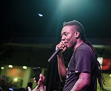 Pappy Kojo performing at a concert in Accra.
