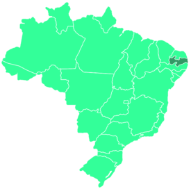 Location of the state within Brazil.
