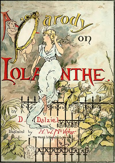 alt=A Parody on Iolanthe.   by ⁠D. Dalziel Illustrated by H. W. McVickar. The Hatch Lithographic Co. New York.