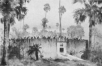 Tower of Silence - Early 20th century drawing of the Dakhma on Malabar Hill, Bombay.