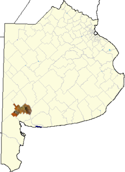 location of Tornquist Partido in Buenos Aires Province