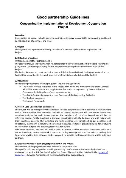 FilePartnership Agreement Guidelinespdf