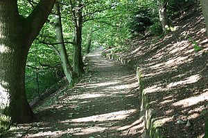 English: Path up to Herefordshre Beacon An eas...