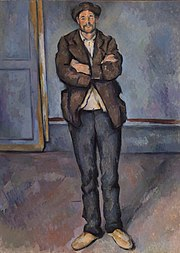 Paul Cézanne - Peasant Standing with Arms Crossed (Paysan debout, les bras croisés) - BF209 - Barnes Foundation.jpg