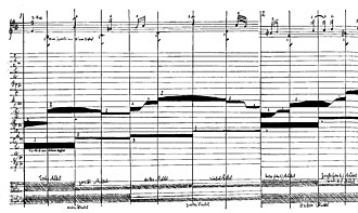 Six Sonatas for Violin and Harpsichord, BWV 1014–1019 - Part of a pictorial representation of the opening of BWV 1019/4 from the 1921-1922 Bauhaus lectures of the Swiss artist Paul Klee