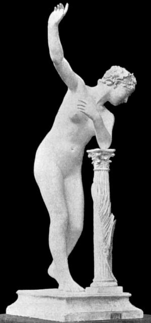 Paul de Vigne - Tomb statue l'Immortalité by Paul de Vigne; 19th century photo