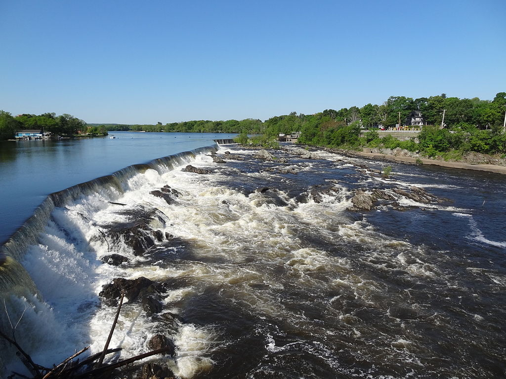 File Pawtucket Falls Viewed From O Donnell Bridge Near