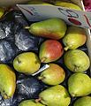 Pears for sale on a UK greengrocer's market stall in August 2013.jpg