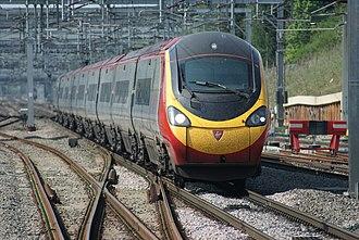 British Rail Class 390 - 390001 at Milton Keynes Central in April 2011