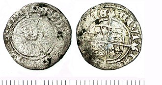 History of the English penny (1485–1603) - Silver penny of Edward VI.
