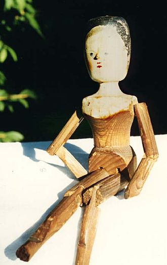 Peg wooden doll - Image: Penny or stickdoll