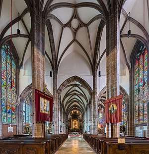 Interior of the parish church Perchtoldsdorf, Lower Austria