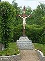 Pernes (Pas-de-Calais, Fr) croix de chemin.JPG