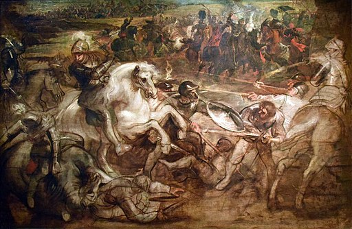 Peter Paul Rubens, Pieter Snayers - Henry IV at the battle of Ivry
