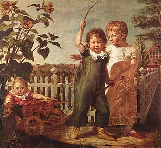 Philipp Otto Runge - The Hülsenbeck children, oil on canvas