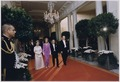 Photograph of President Gerald Ford, First Lady Betty Ford, Emperor Hirohito and Empress Nagako Walking Down the... - NARA - 186820.tif
