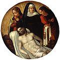 Piedad con san Juan y María Magdalena, del Maestro de Alcira (Museo de Bellas Artes de Valencia).jpg