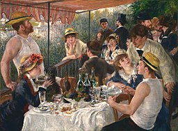 Pierre-Auguste Renoir - Luncheon of the Boating Party - Google Art Project