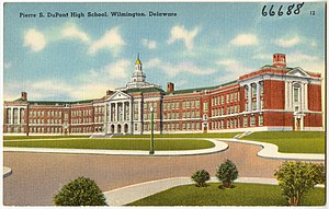 Pierre S. du Pont - Image: Pierre S. Du Pont High School, Wilmington, Delaware (66688)