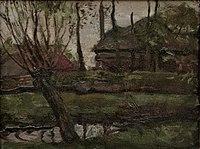 Piet Mondriaan - Farmyard sketch with pollarded willow at left - A321 - Piet Mondrian, catalogue raisonné.jpg