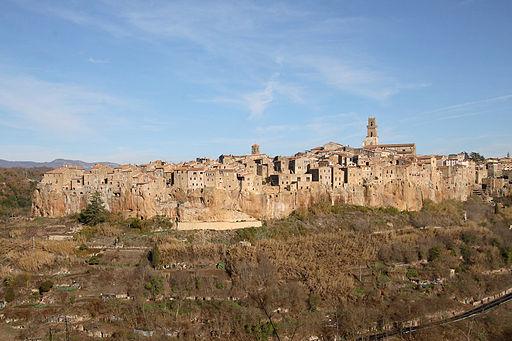 Pitigliano, Etruskische stad in het zuiden van Toscane