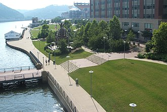 North Shore Riverfront Park - A portion of North Shore Riverfront Park; viewed from the Fort Duquesne Bridge