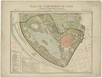 Colonial exhibition - Map of the 1894 Lyon fair