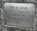 Plaque, Drumoghill Church - geograph.org.uk - 1805826.jpg