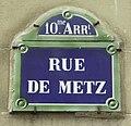 Plaque de nom de rue Paris 19e siècle porcelaine.JPG