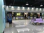 Platform of Hongqiao Airport Terminal 1 Station from train of Shanghai Metro Line 10.jpg