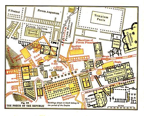 古罗马广场地图