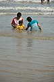 Playful Family with Sea Waves - New Digha Beach - East Midnapore 2015-05-01 8748.JPG