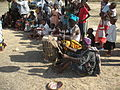 Playing drum in companion with the native dance at Dakawa, Morogoro, Tanzania.JPG