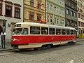Plzeň, Náměstí Republiky, Tatra T2 cropped.jpg