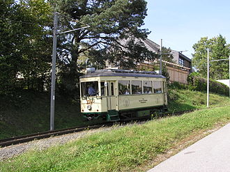 Steep grade railway - The Pöstlingbergbahn is one of the steepest railways that uses only adhesion