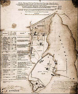 Point Frederick (Kingston, Ontario) - Map of Point Frederick, c. 1870