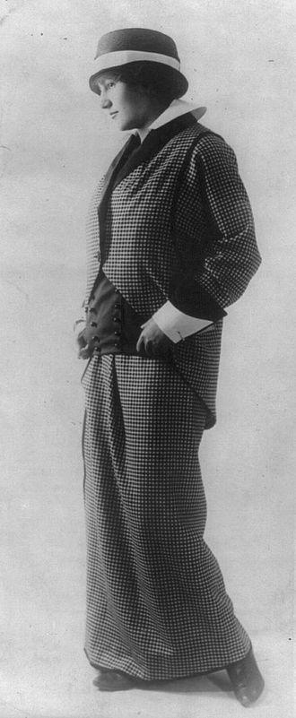 Paul Poiret - Model in a Poiret suit, 1914