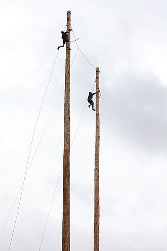 National Ploughing Championships - All Ireland Pole climbing competition at the National Ploughing Championships in 2011