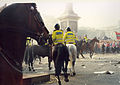 Poll Tax Riot 31st Mar 1990 Trafalger Square - Protesters Stand Firm.jpg