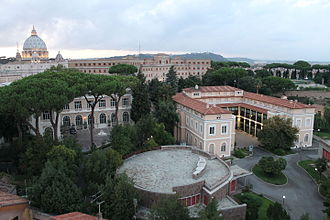 Pontifical Urban University - A view of the campus of the Urban University from the south