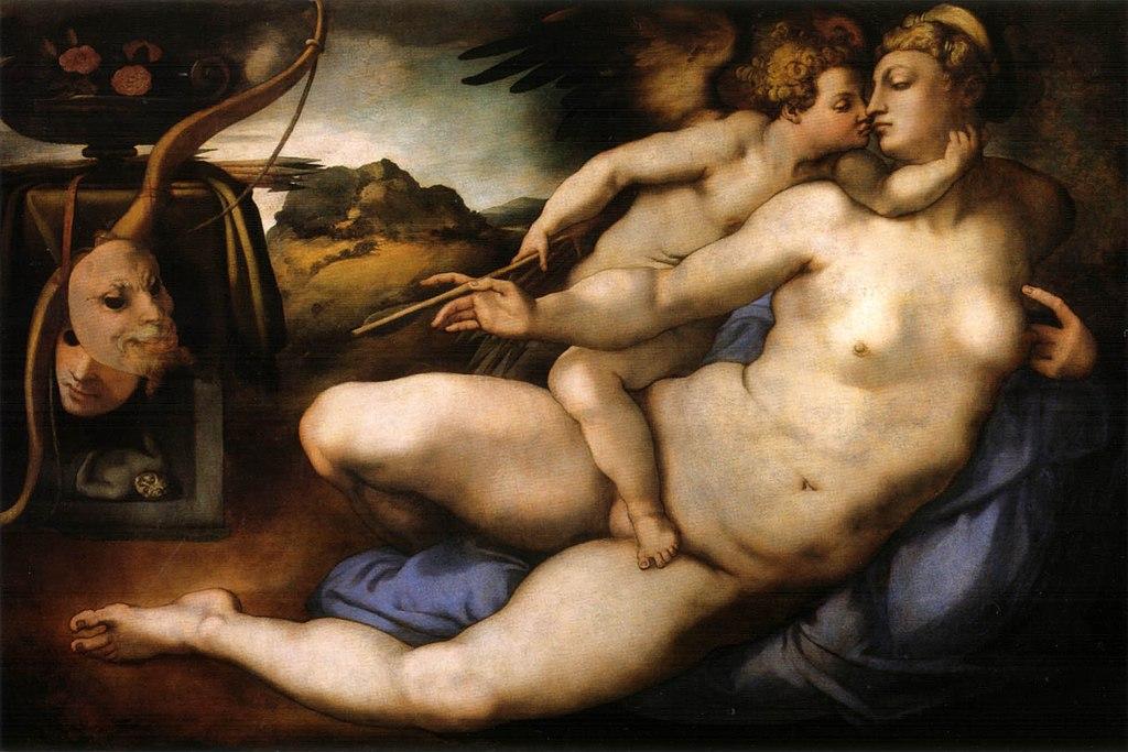 Pontormo, venere e amore da michelangelo, 1533 ca. 01