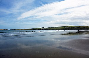 Poppit Sands - Poppit Sands, looking across the bay entrance towards Gwbert.