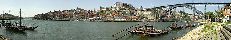 Historical part of Porto and the Douro river.