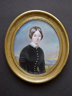 Portrait miniature on ivory of a young Lady painted in 1847 by Aimée Jovin Cheron.jpg