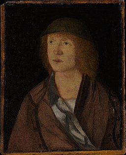 Portrait of a Young Man; (reverse) Girl Making a Garland MET DP164793