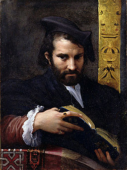 Portrait of a man with a Book by Parmigianino YORAG 739