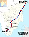 Pothigai Express (MS - SCT) Route map.jpg