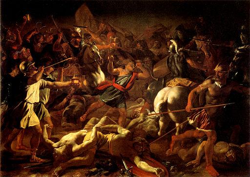 Poussin La Victoire de Gédéon contre les Madianite